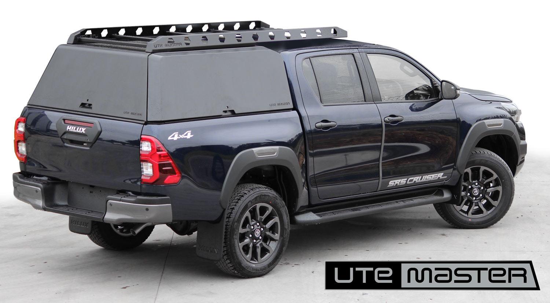 2021 Toyota Hilux SR5 Cruiser Blue Black with Utemaster Centurion Ute Canopy
